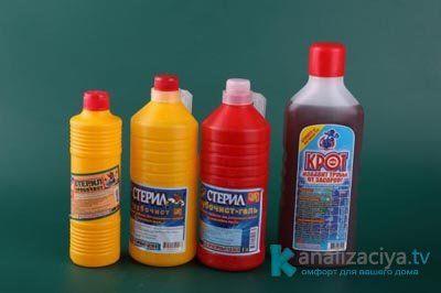 Жидкие химикаты для чистки труб