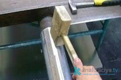 Сделать жёлоб водосточный своими руками